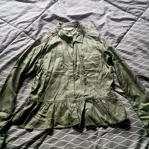 H&M Green Utility Shirt